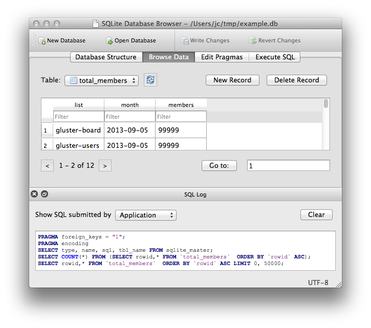 DB Browser for SQLite Screenshot