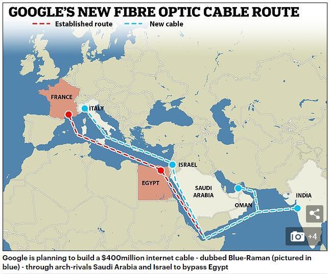 恒达平台登录网址谷歌欲建沙特-以色列光缆 打通印欧互联网流向新出口