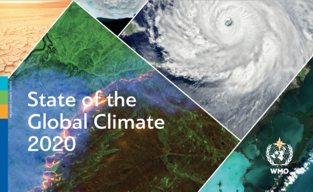 △世界气象组织发布《2020年全球气候状况》报告