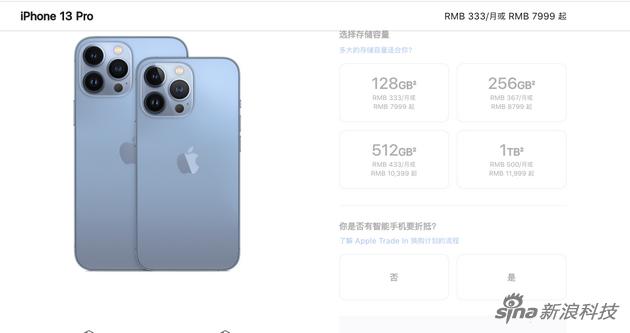 iPhone 13 Pro系列价格