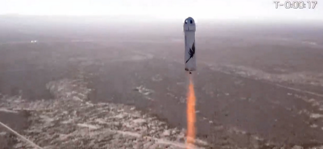 图1:谢泼德NS-18飞行器发射现场